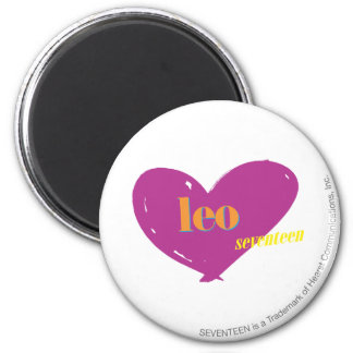 Leo 2 6 cm round magnet