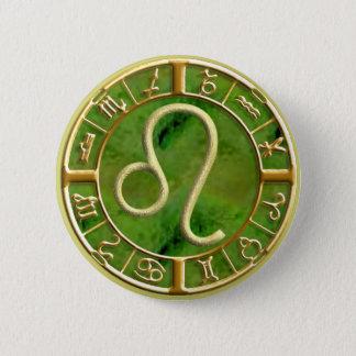 Leo 6 Cm Round Badge