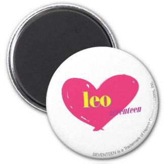 Leo 6 Cm Round Magnet