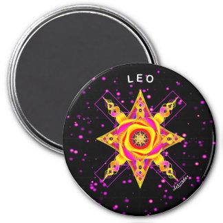 LEO 7.5 CM ROUND MAGNET