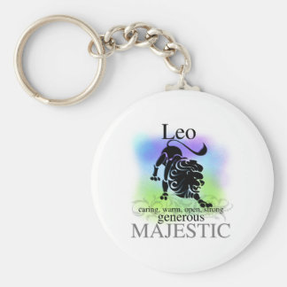 Leo About You Basic Round Button Key Ring