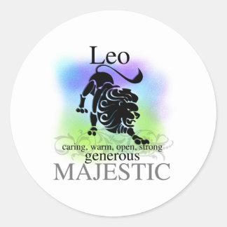 Leo About You Round Sticker