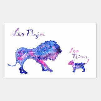 Leo and Cub Rectangular Sticker