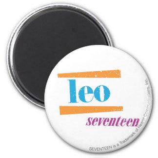 Leo Aqua 6 Cm Round Magnet