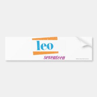 Leo Aqua Bumper Sticker