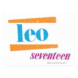Leo Aqua Postcard