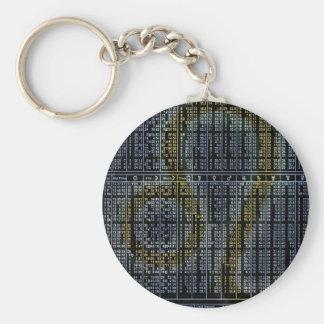 leo basic round button key ring
