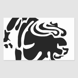 LEO BLACK AND WHITE HOROSCOPES PRODUCTS RECTANGULAR STICKER