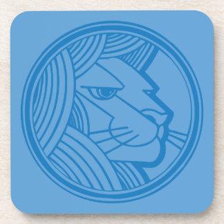 Leo Blue Coaster