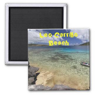 leo carrillo beach malibu californa. square magnet