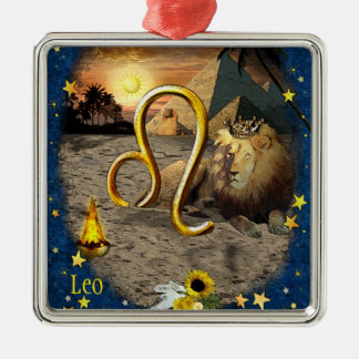 Leo Christmas Ornament