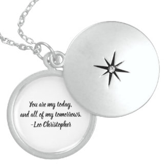 Leo Christopher Quote Sterling Silver Locket