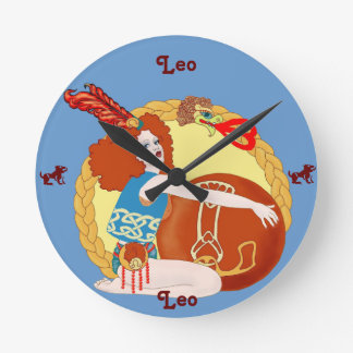 Leo Round Wallclock