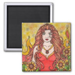 Leo Fire Goddess Magnets