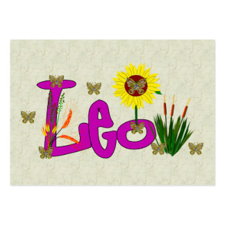 Leo Flowers Pack Of Chubby Business Cards