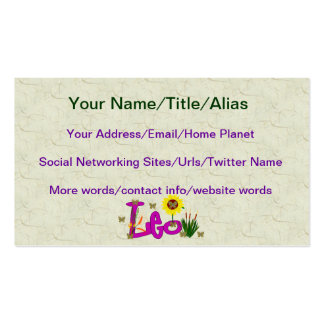 Leo Flowers Pack Of Standard Business Cards