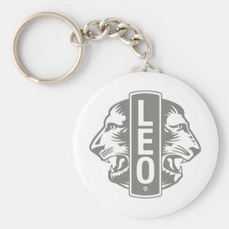 LEO Gear Basic Round Button Key Ring