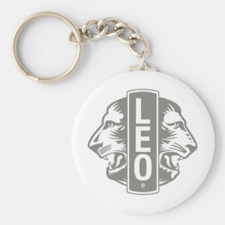 LEO Gear Basic Round Button Key Ring