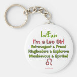 Leo Girl Personalised Zodiac Keychain