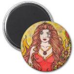Leo Goddess 6 Cm Round Magnet