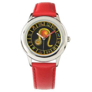 LEO GOLD ZODIAC BIRTHDAY JEWEL Astrology Chart Wristwatch