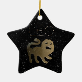 Leo golden sign ceramic star decoration