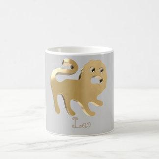 Leo golden sign coffee mug