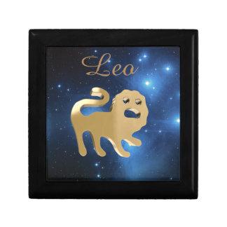 Leo golden sign gift box