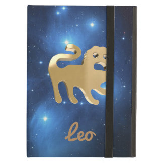 Leo golden sign iPad air cover