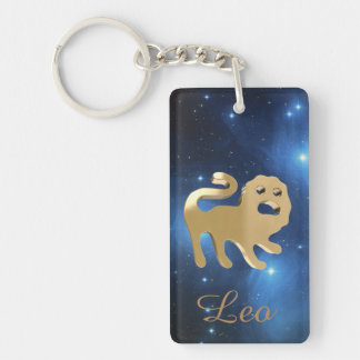 Leo golden sign key ring