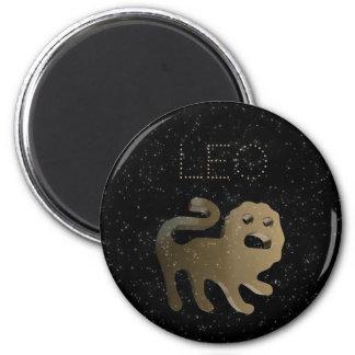 Leo golden sign magnet