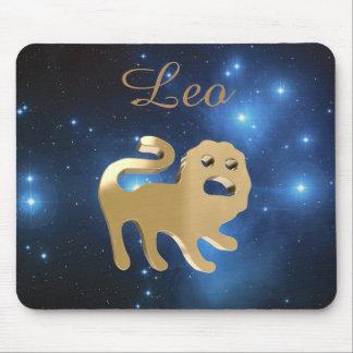 Leo golden sign mouse mat