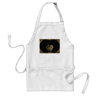 Leo golden sign standard apron