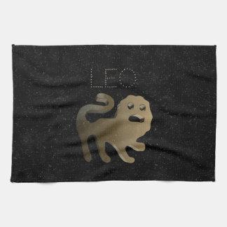 Leo golden sign tea towel