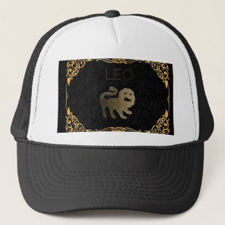 Leo golden sign trucker hat