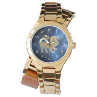 Leo golden sign watch