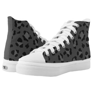 Leo Gray Printed Shoes