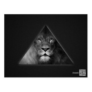 Leo Horoscope Lion Illustration Black and White Postcard