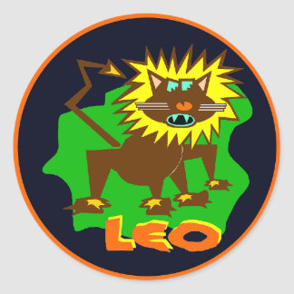 Leo Horoscope Sign Lion Symbol Sticker