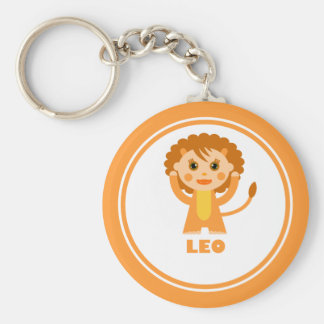 Leo is my Zodiac sign Basic Round Button Key Ring