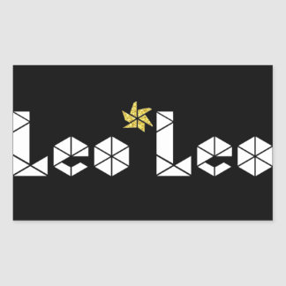Leo*Leo Official Brand Stickers! Sheet of 4 Rectangular Sticker
