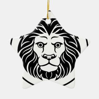 Leo Lion Astrology Horoscope Zodiac Sign Christmas Ornament