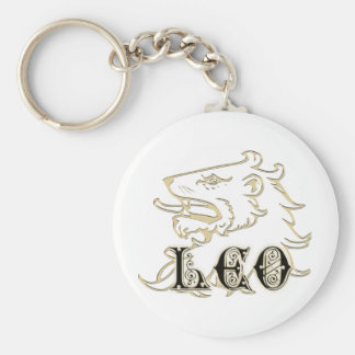 Leo Lion Astrology Sign Key Ring