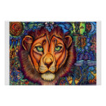 Leo Lion, Calm and Fierce Posters