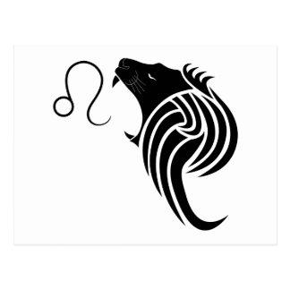leo lion greek astrology horoscope zodiac postcard