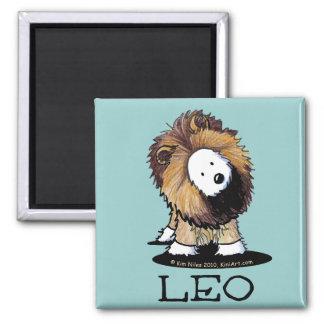 LEO Lion Westie Square Magnet
