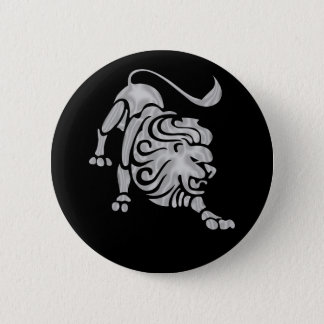 Leo Lion Zodiac Button