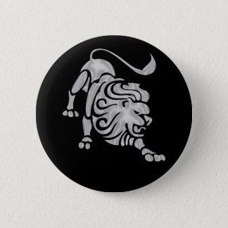 Leo Lion Zodiac Button