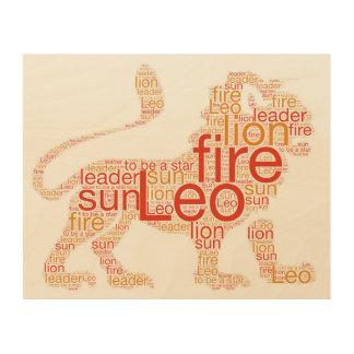 Leo Lion Zodiac Sign Print
