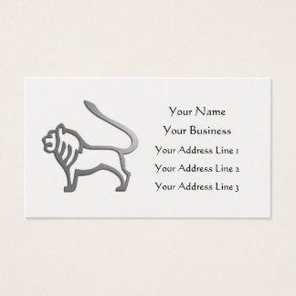 Leo Lion Zodiac Star Sign Gold Vet Bookmark Business Card